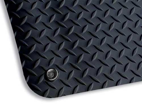 Conductive Non Slip Anti Static Fatigue Mat With Diamond Top
