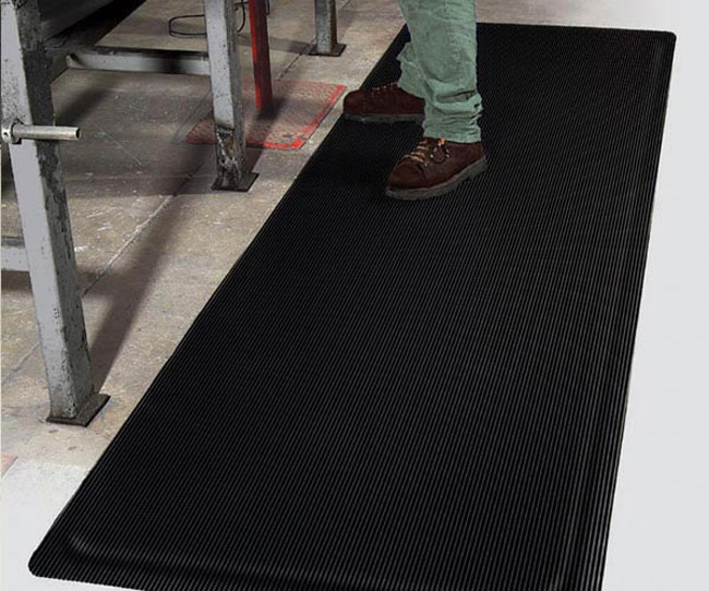 Ribbed Top Anti Fatigue Mat Standard Or Yellow Borders
