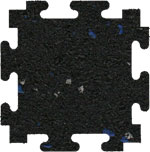 Blue / Gray Fleck Rubber Floor Tiles