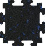 Blue Fleck Rubber Floor Tiles