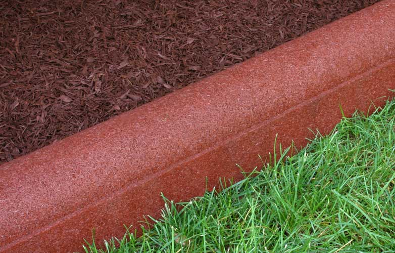 Rubber Border Mulch Edging Redwood