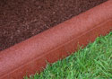 Rubber Border Mulch Edging - Redwood