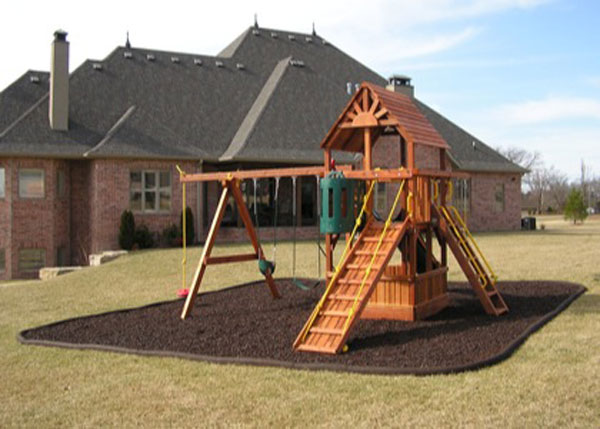 Landscape Timbers Mccoys : Rubber border edging for playgrounds