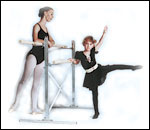 Ballet Barres (wall mounted ballet bar or free standing ballet bars), mylar mirrors / dance mirrors & more.