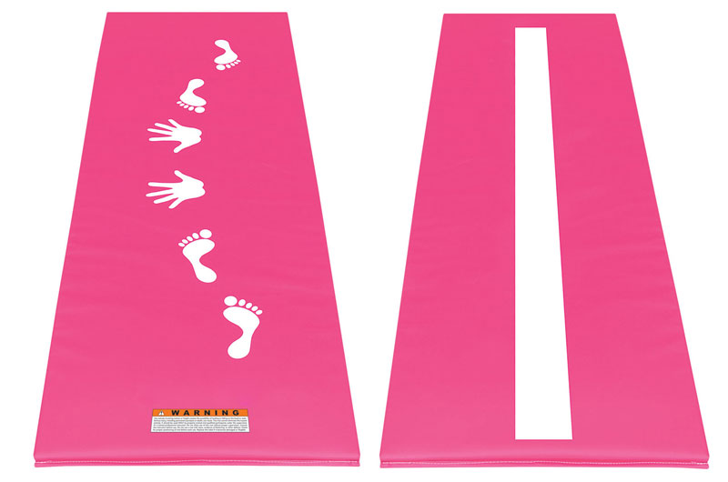 cartwheel mats and gymnastics balance beam mat pink