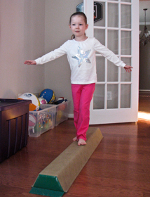 balance beam foam sectional beam