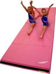 pink gymnastics mats tumbling mat