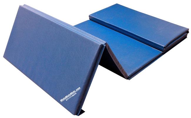 blue tumbling mats