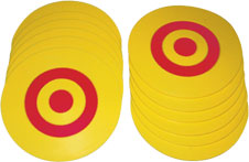 Use vinyl targets to make fun games for kids