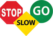 Activities For Kids With Stop, Slow & Go Signs
