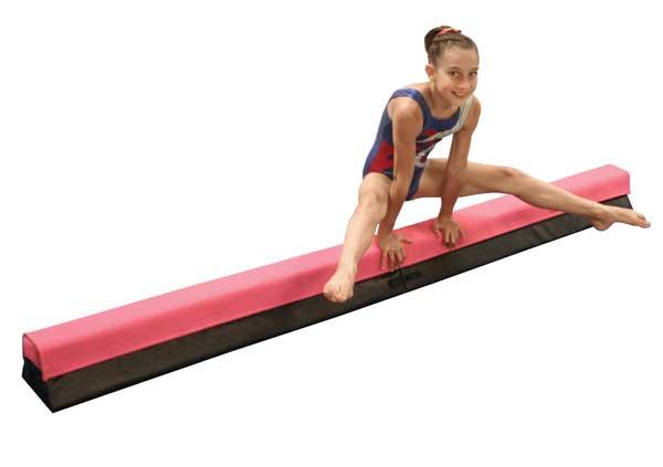 Balance beam for gymnastics