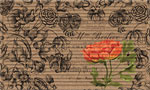 Home Door Mats: Vintage Floral Peony