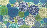 Designer Door Mats: Zinna Blossoms
