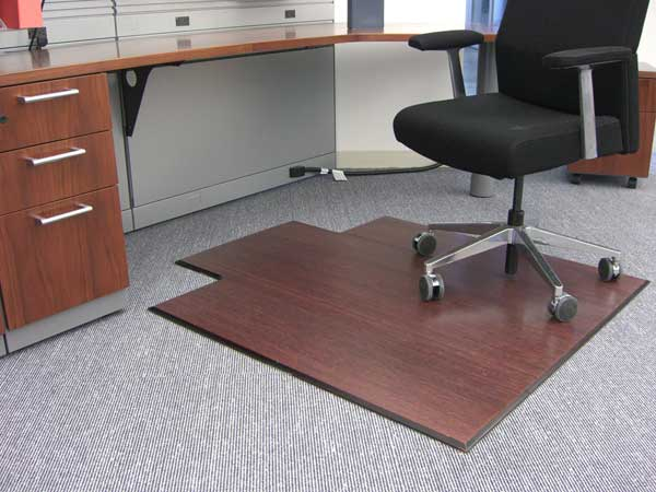 Hardwood Chair Mat. Enlarge & Bamboo Chair Mat For Office Carpet or Wood Floors