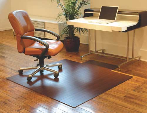 Bamboo Office Chair Mat - Office chair mat