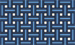 Rubber Doormat - Weave Blue