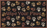 Welcome Door Mats - Wipe Your Paws Brown