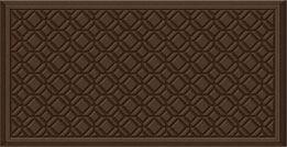 Sponge Foam Kitchen Mats: Farimont Tiles - Chocolate