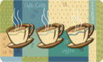 Cushioned Kitchen Mats: Coffee Cups