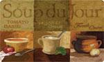 Beautiful Kitchen Mat: Soup Du Jour