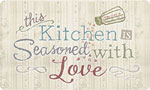 Beautiful Kitchen Mat: Seasoned With Love