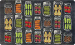 Beautiful Kitchen Mat: Veggie Jars
