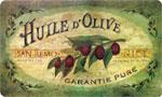 Beautiful Kitchen Mat: Vintage Olive Oil