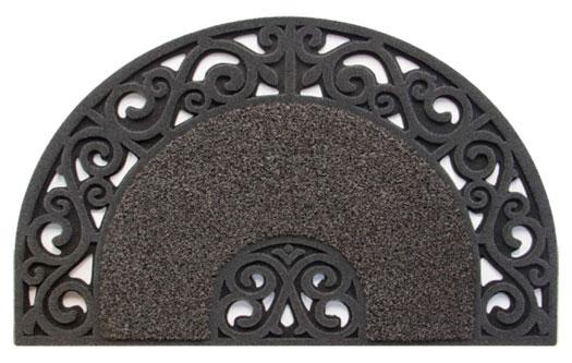 Scraper Floor Mat: half round rubber door mat