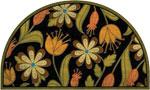 front door mats - Floral Half Round