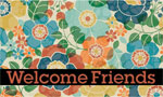 outside door mats - Kaleido scope Welcome Friends