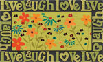 home doormats - Live Laugh Love