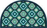 welcome mats - Medallion Tiles Half Round Lagoon