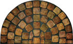 outside door mats - Medieval Stones Half Round