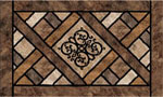 home doormats - Rustic Lattice Earthstone