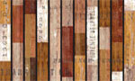 home doormats - Rustic Wood Slats Brown