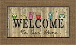 home doormats - Welcome Owls