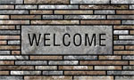home doormats - Welcome Stone Slats