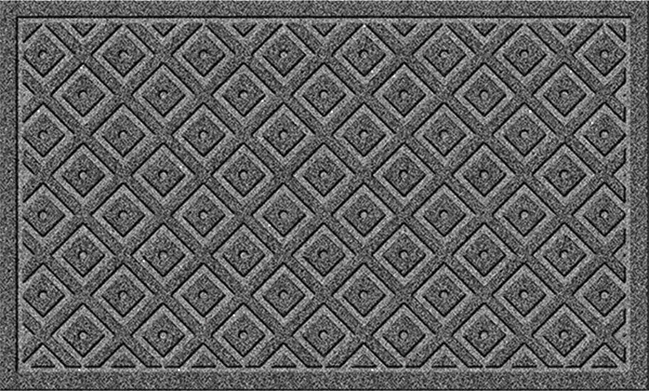 charcoal diamond lattice mega scraper door mats