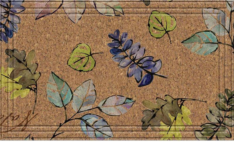 front door mats natural leaves