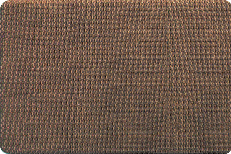 Foam Kitchen Floor Mats   Basket Weave In Brown