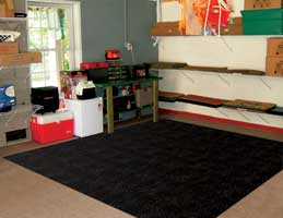 Rubber Interlocking Utility Flooring
