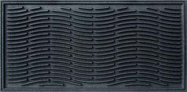 Durable Front Door Mats With Carpet Surface And Recycled Rubber Backing