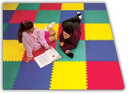 Garage Floor Tiles And Basement Flooring Interlocking Foam Mats - Padded garage floor mats