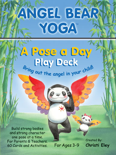 Angel Bear Yoga Cards For Kids