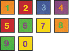 Numbers Carpet - Educational Rugs For Kids