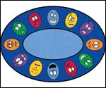 Classroom Carpets For Kids - Oval