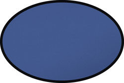 Blue Oval Rug