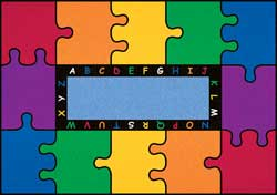 Large Classroom Rugs: ABC Puzzle Mat