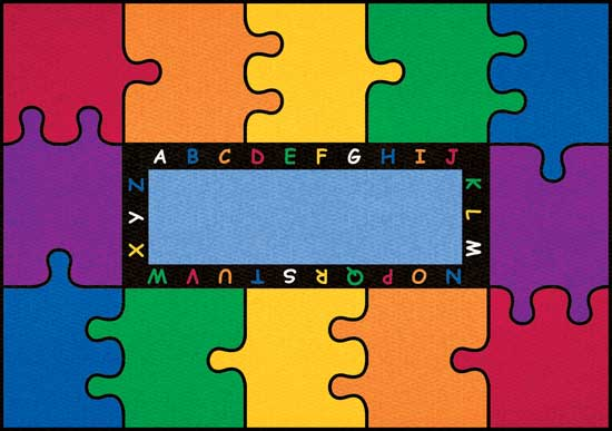 Large Clroom Rugs Abc Puzzle Mat
