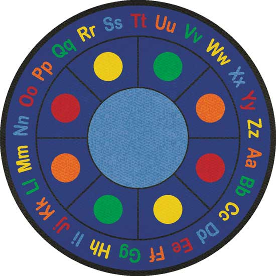 Round classroom carpets and rugs for kids for Round rugs for kids